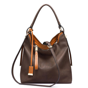 Everyday Vegan Leather Hobo Bag Brown
