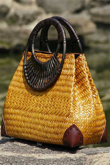 Women's Handmade straw bag