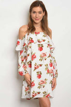 women's off the shoulder floral mini dress