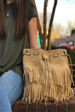 Women's Tan Fringe Handbag