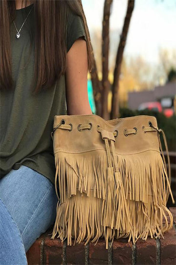 Soho Chic Fringe Shoulder Crossbody Bag
