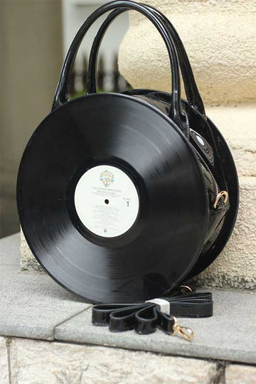 Take That Old Record Off The Shelf Round Handbag