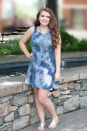 Women's Tie Dye Sleeveless Mini Dress