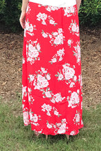 Women's Floral Maxi Skirt with Side Slit