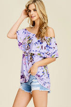 Women's Off The Shoulder Floral Print Blouse
