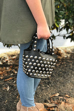 Women's Rivet Black Handbag