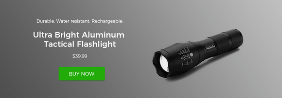 ultra bright aluminum tactical flashlight