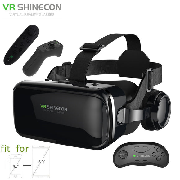3D Glasses Box VR Headset Shinecon G04E Helmet Virtual Reality Goggles With Headphone
