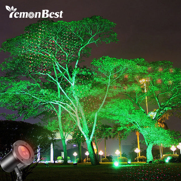 Waterproof Wedding Christmas Decorations for Home Laser Projector Light Red and Green with 4 mode Stage Disco Lamp with Remote