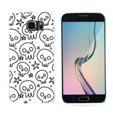 Simple Cartoon Skull Star Back Cove Case for iPhone 4/5/6/7 Samsung Galaxy S6 S7