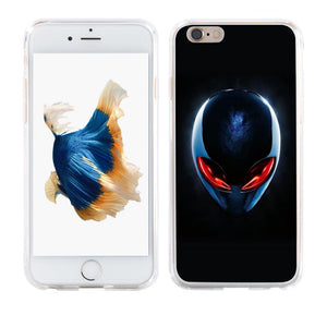 Red Eyes Alien Case Cover for iPhoneX 8 Samsung S8 Huawei P9 Mate 9 Xiaomi Redmi