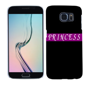 Princess Letter Print Phone Case Cover for iPhone 8 8 Plus Samsung Galaxy S8