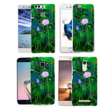 Lotus Flower Leaf Case Cover for iPhone 8 Samsung S8 Huawei P9 Xiaomi Redmi