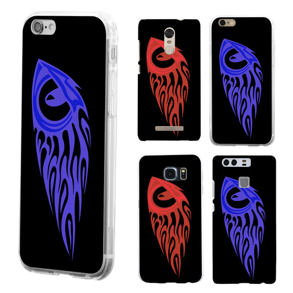 Red Blue Fish Case Cover for iPhone 7 8 Samsung S8 Huawei P9 Xiaomi Redmi Note 2