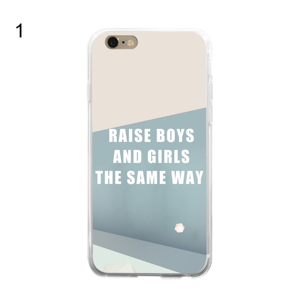 The Same Way Letters Print Phone Back Case Cover for iPhone 6 Samsung Galaxy S6
