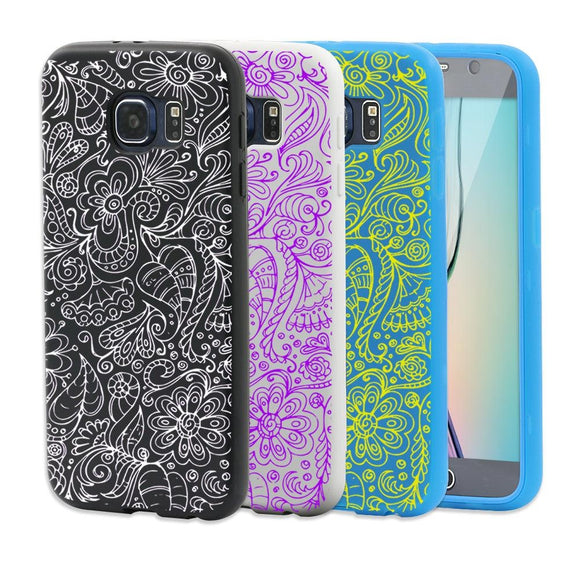 Stylish Flower Pattern Transparent Flip Phone Case Cover for iPhone 4 5 6 Plus