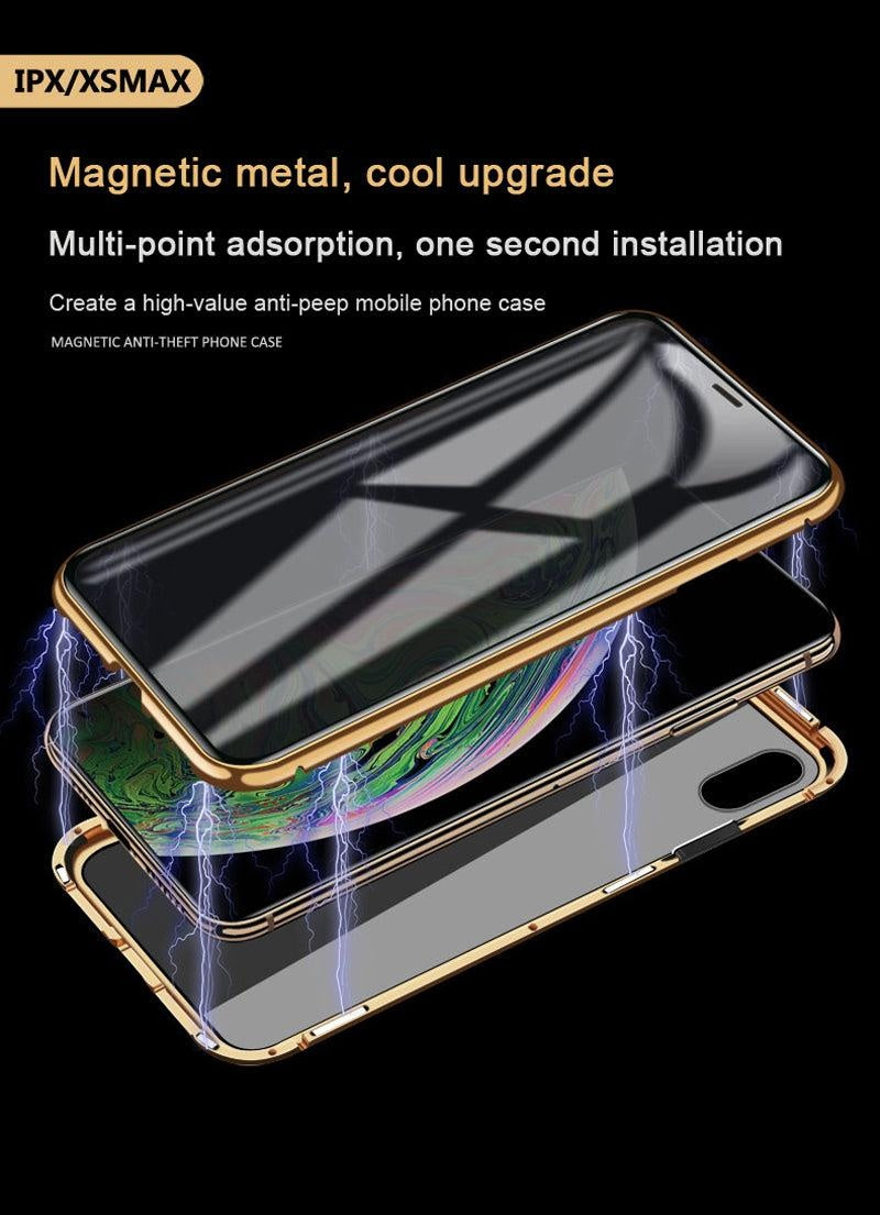 Magnetic Adsorption Anti-Peeping 360 Full Tempered Glass Case For iPhone X 11 Pro Max XR XS Max 8 Plus 7 6 6S Plus