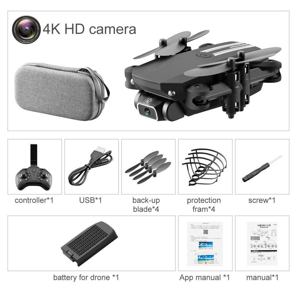 LSRC 4K WIFI FPV Foldable Mini Beginer Drone& Kid Toy, Take Photo by Gesture, Trajectory Flight, Beauty Filter, Altitude Hold, 360° Flip,3-1