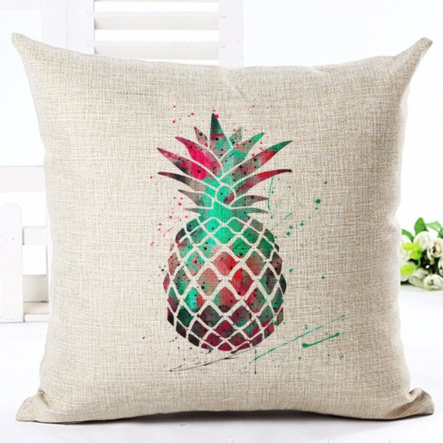 Pineapple Printed Pillow Case