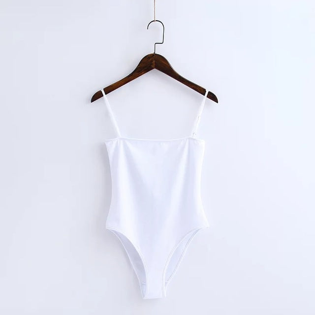 Spaghetti Strap Backless Bodysuit
