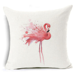 Pink Flamingo Pillow Case