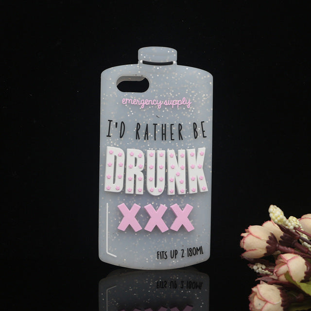 I'd Rather Be Drunk iPhone Case