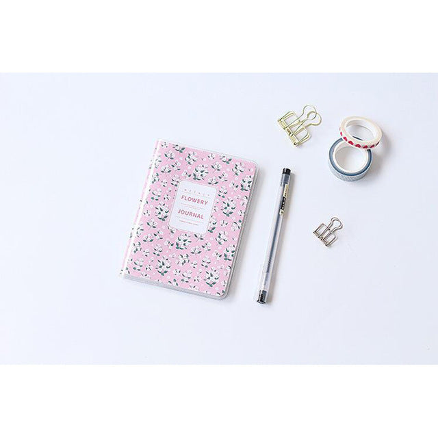 Flower Notebook Planner in Pink