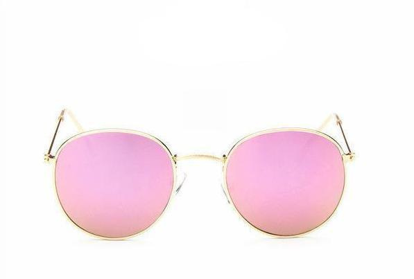 Mirror Sunglasses in Pink & Gold