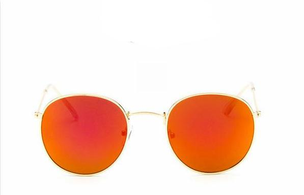 Mirror Sunglasses in Red & Gold