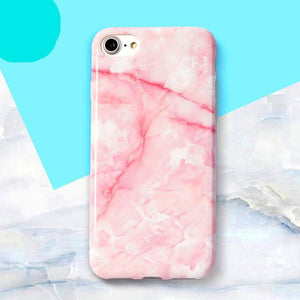 Pink & White Marble iPhone Case