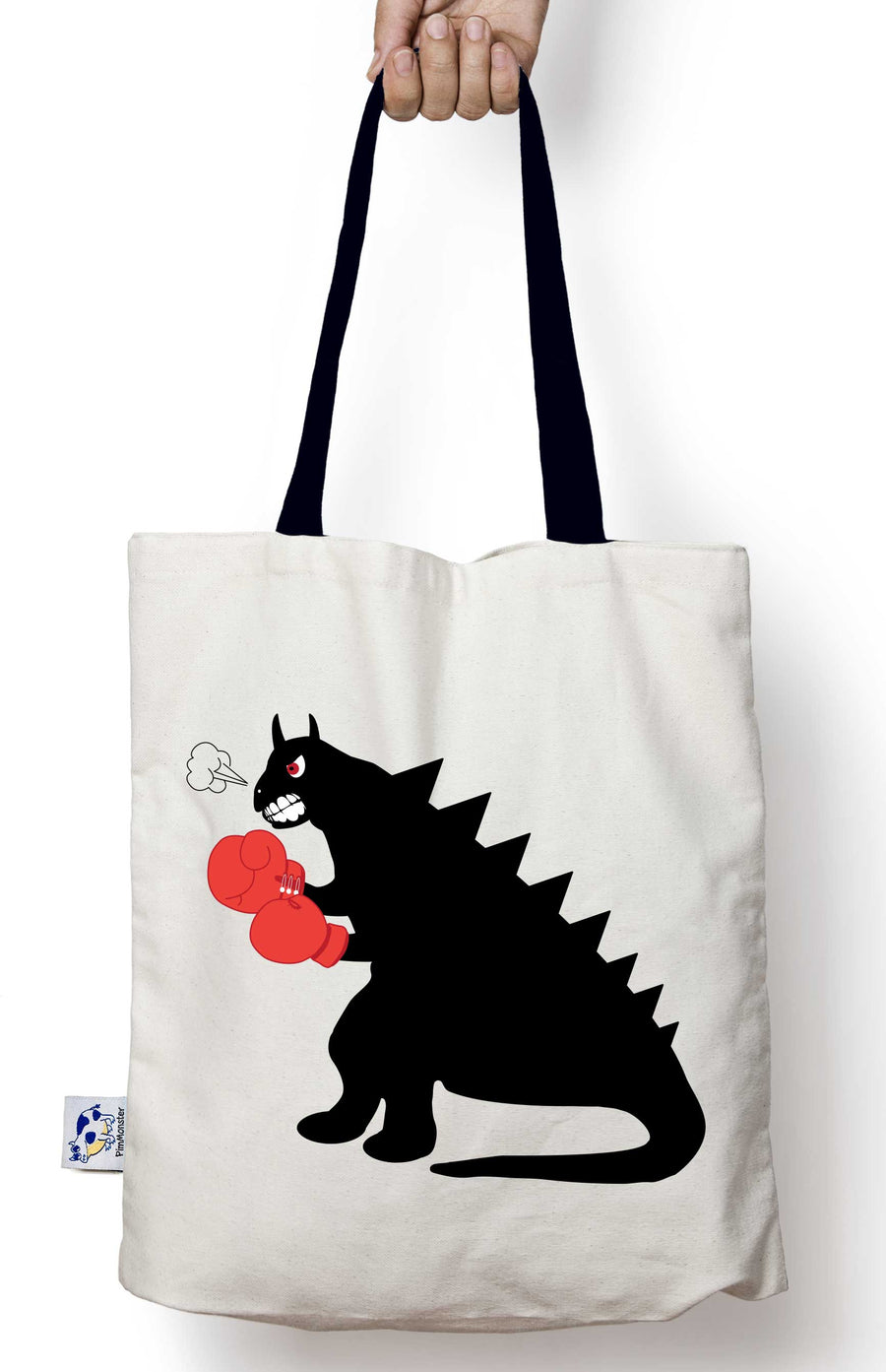 The Boxing Dinosaur tote bag
