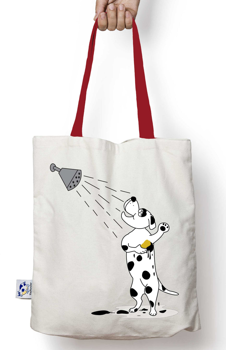 Dallmatial lover? Becareful when you give him a bath that his spots don't go away. He is now on canvas tote bag