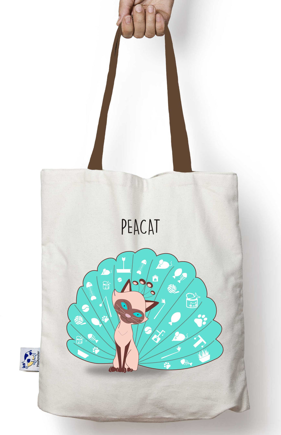 Peacat Tote bag. The cat and the peacock