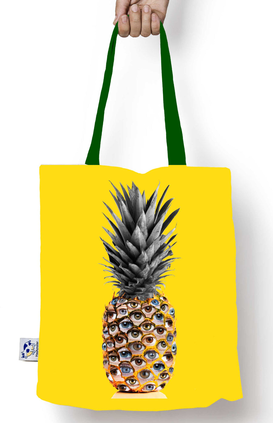 5e69337b1 The Glance, the eyes on the pineapple tote bag