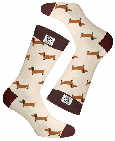 Po is the sweetest dachshund. It can be your everyday sock for work or for play during travel. Even when you exercise you can show off the cool pattern.