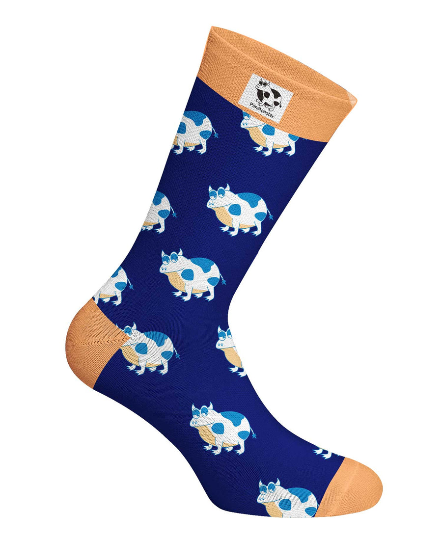 Frog and cow, frow socks