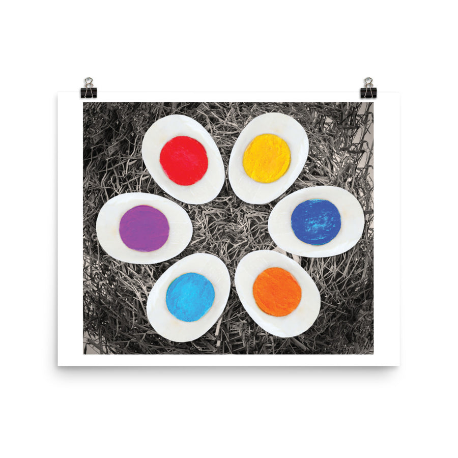 Colorful Eggs Poster - Pimmonster