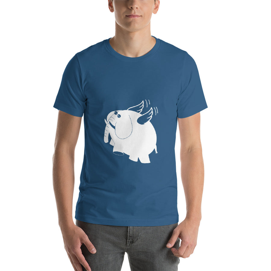 Fly Elephant Fly Unisex T-Shirt - Pimmonster