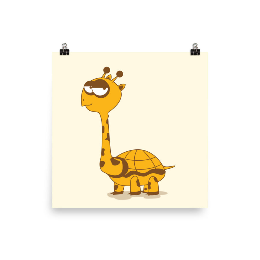 The Turraffe  Poster Turtle and Giraffe