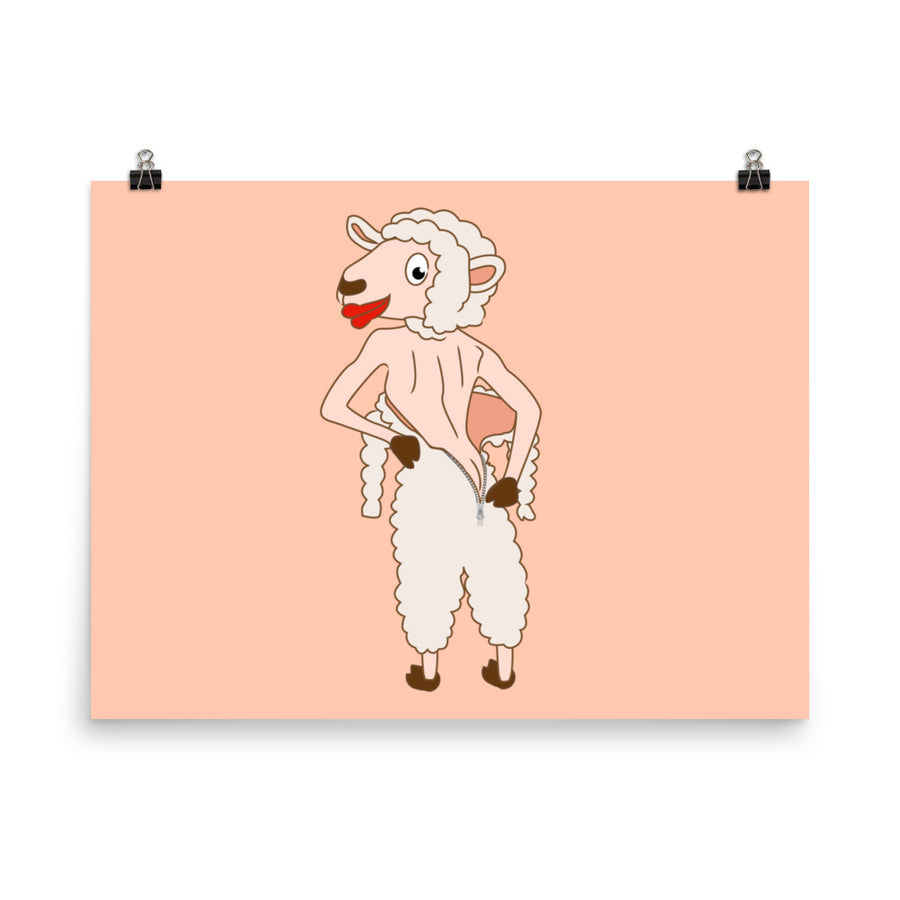 Ms Naked Sheep Poster - Pimmonster