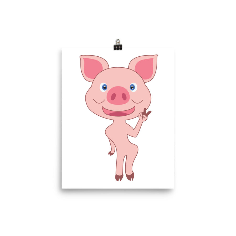 Miss Skinny Piggy Poster - Pimmonster