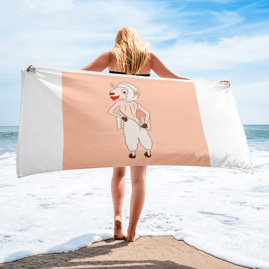 The Naked Sheep Towel - Pimmonster