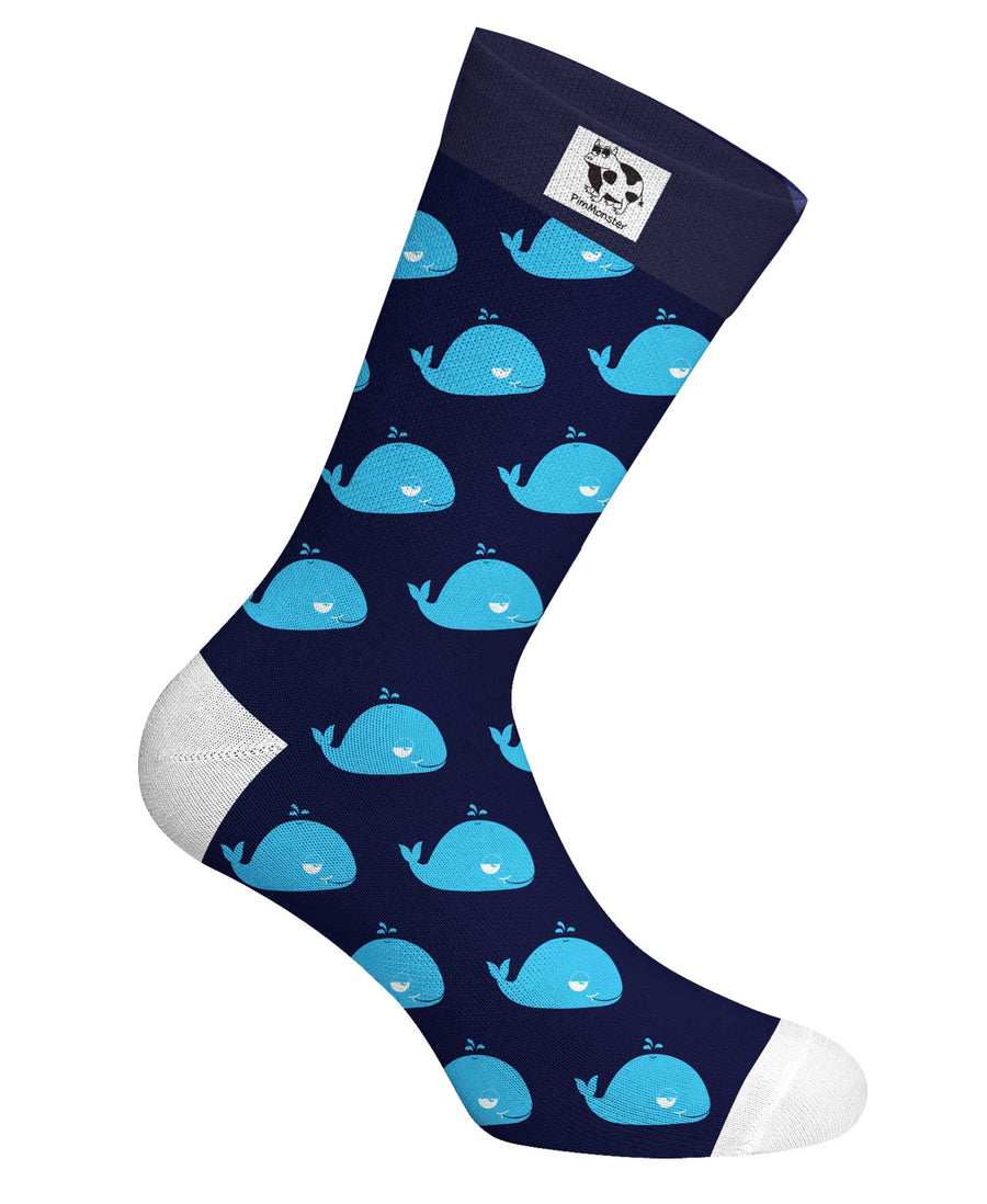 Well Well Whale Socks - Pimmonster