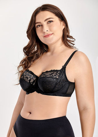 0a18c023955bf Lace Underwire Non Padded Support Bra - Shelby s