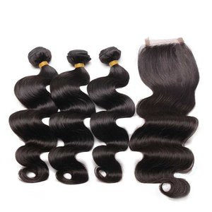 Body Wave Bundles And Lace Closure