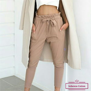 Rippled Edge Pockets Pants