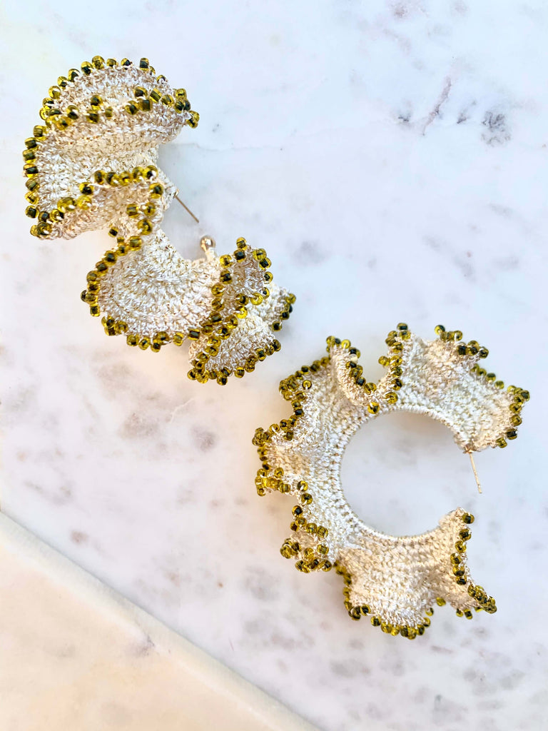 Flamenco Earrings | Beige
