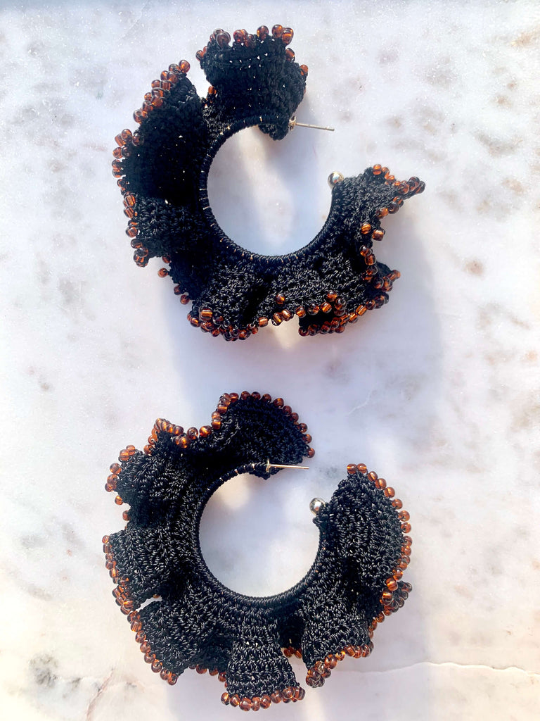 Flamenco Earrings | Navy