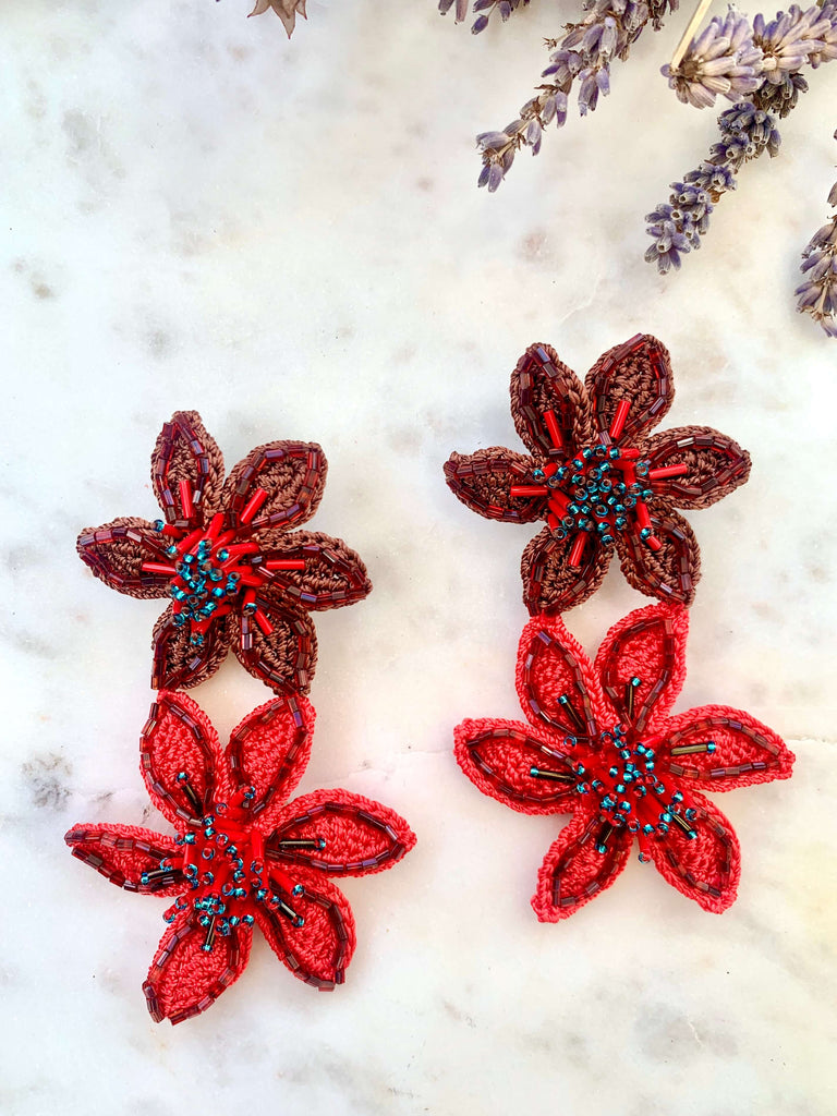 Olivia Earrings Red