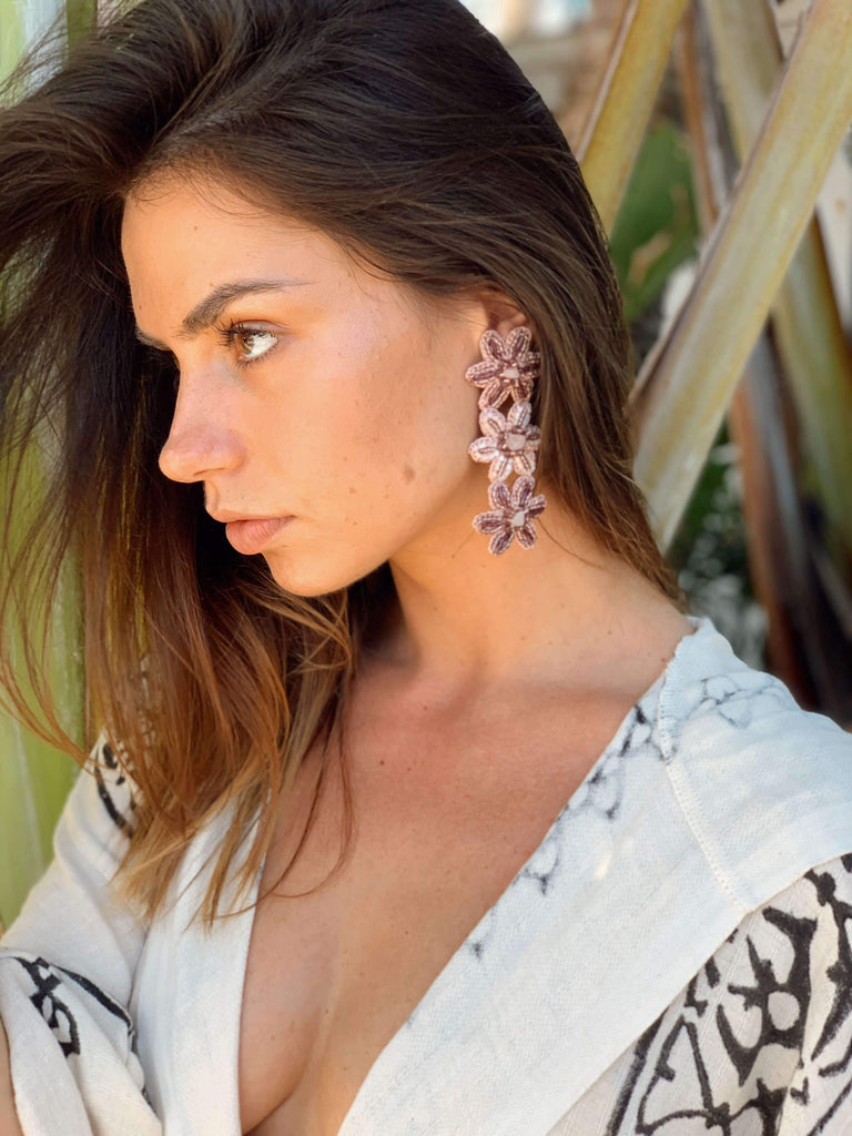 Duru Statement Earrings Blush